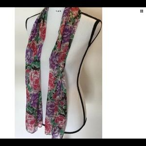 Echo Scarf ~ Floral Purple/Red/Black/Green Gold